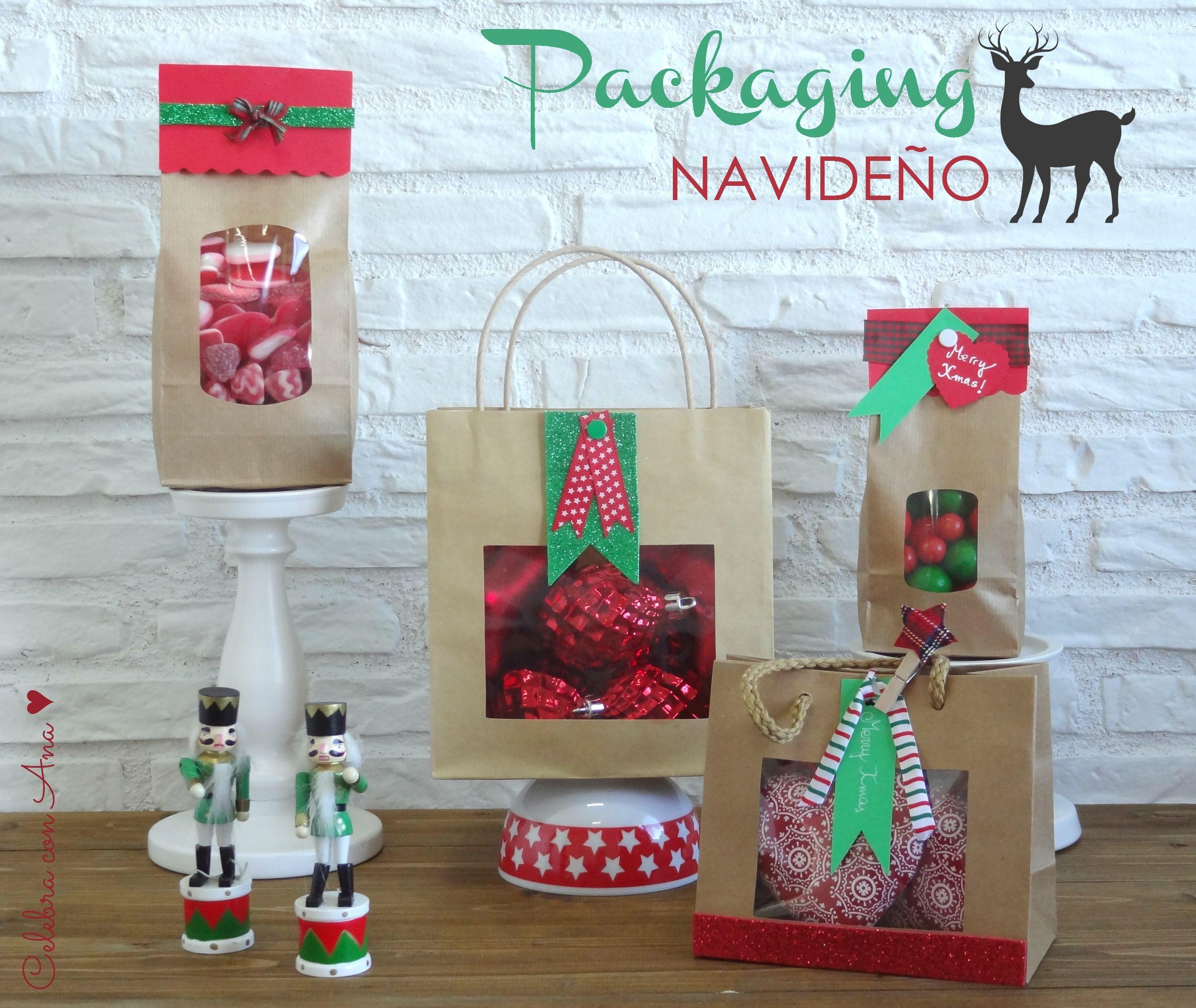 Packaging Navidad Con Bolsas Kraft Kraft Packaging Navidad  ~ Ideas Para Regalar En Navidad Manualidades