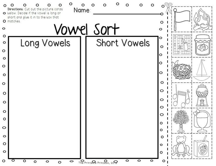 Short and Long Vowel Activities Picture Cards Worksheets – Short and Long Vowels Worksheets