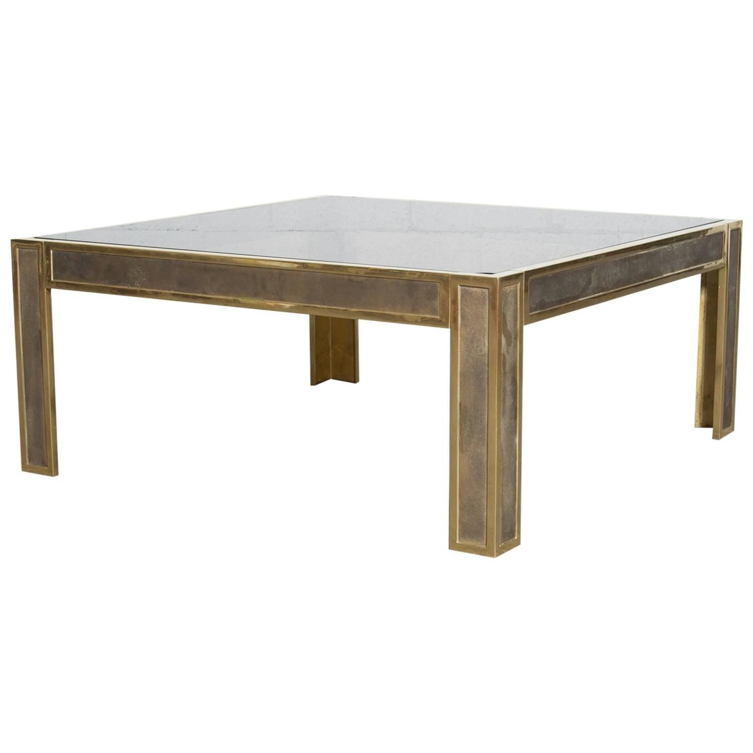 Brass Peter Ghyczy Attributed Coffee Table