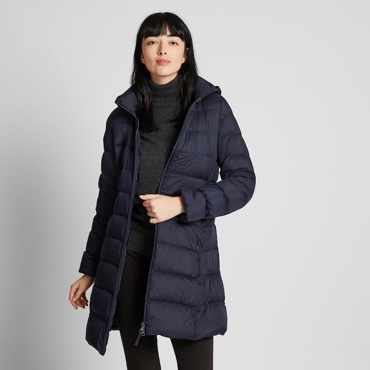 Women Ultra Light Down Hooded Coat Uniqlo Us Hooded Coat Cocoon Jackets Fashion