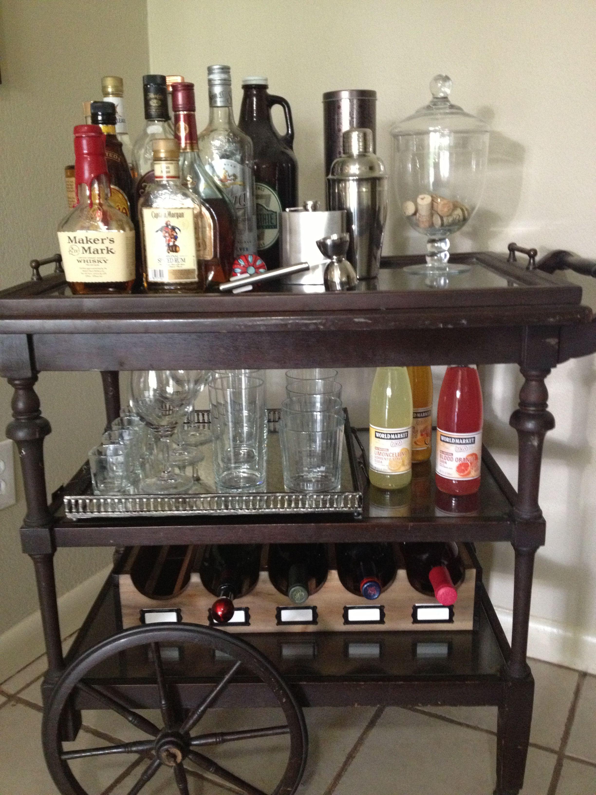 wine rack on the lower section bar cart design pinterest bar carts bar and wine rack. Black Bedroom Furniture Sets. Home Design Ideas