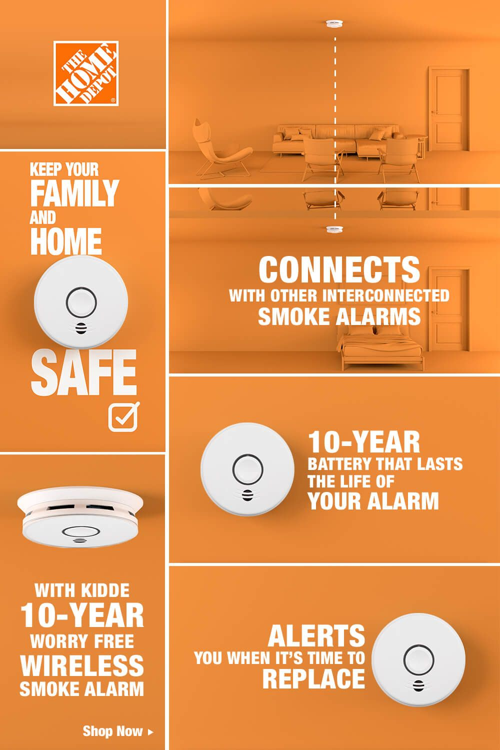 Protect Your Home And Family With The Kidde 10 Year Worry Free Battery Smoke Alarm With A Battery That Last Smoke Alarms Cool Things To Buy Home Maintenance