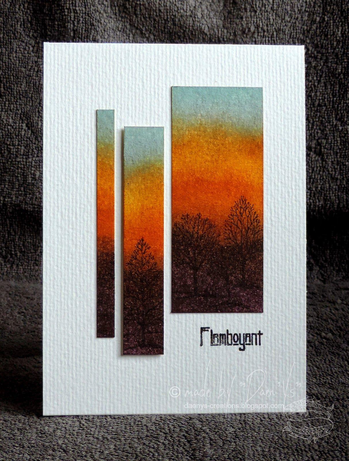 Beautiful sunrise! - clean & simple card