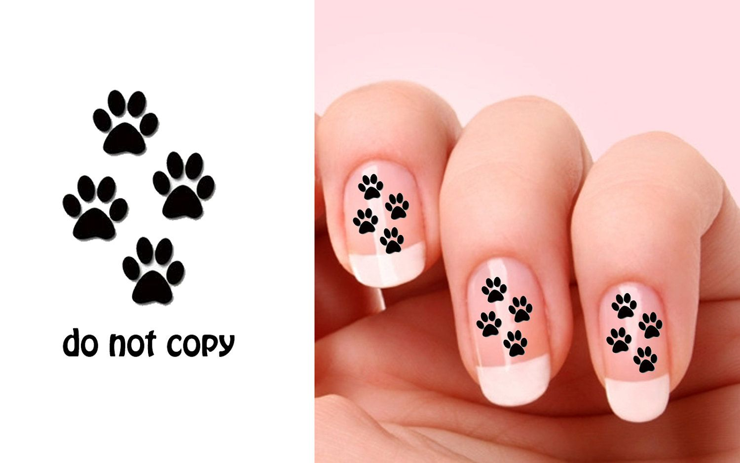 Set of 20 Cat Paw nail art decals.. $2.50, via Etsy. | Cats. #meow ...