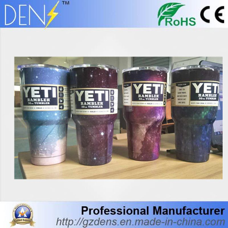 5b37dbbad72 Starry Sky YETI Colorful Powder Coated Stainless Steel 30oz Rambler Tumbler  Cooler Cup
