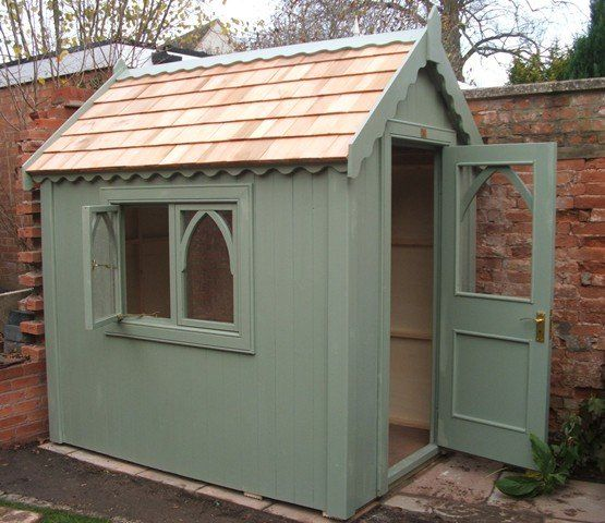 gothic shed french grey summit 39 s bicycle shed posh. Black Bedroom Furniture Sets. Home Design Ideas