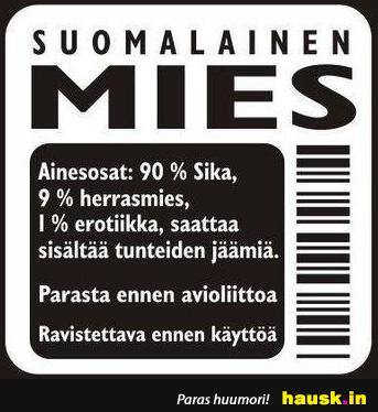 Suomalainen mies, ainesosat - HAUSK.in