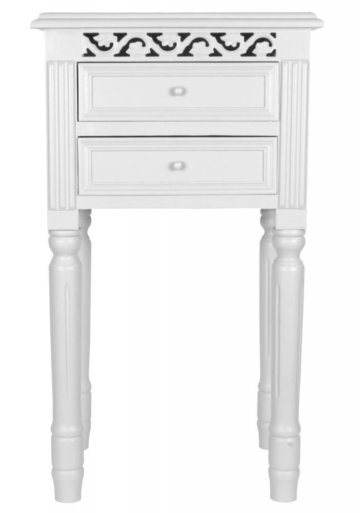 Light Grey Bedside Table: BEDSIDE TABLE In WHITE Bedside Cabinet- Belgravia Style