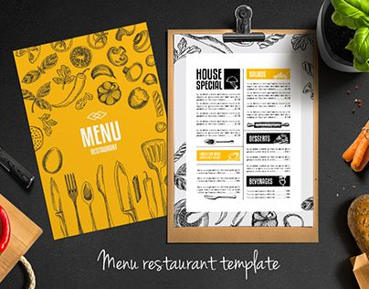 Menu Restaurant Design Template  Menu    Menu Restaurant