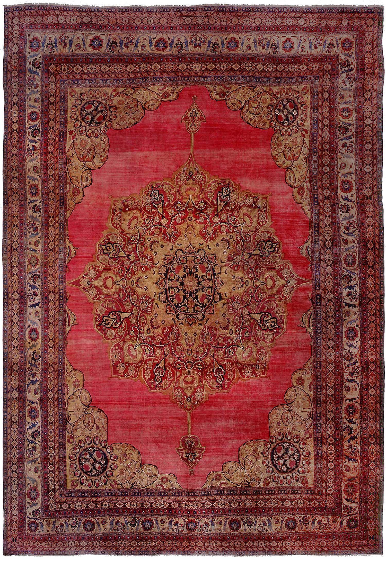 View This Beautiful Large Palace Size Antique Kerman Persian Rug 43607 From Nazmiyal S Fine
