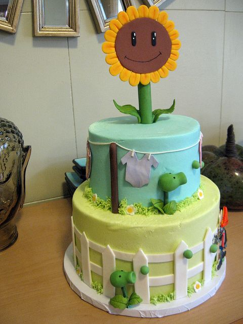 Baby shower number 2 Plants vs zombies Shower cakes and Plants