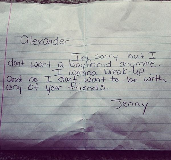 Funny Kid Break Up Letters So Cute  Funny Kids Pics