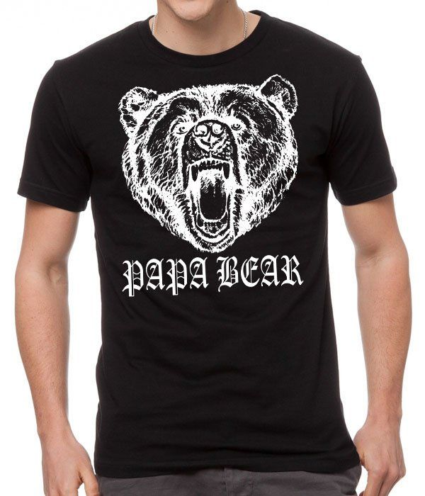 Papa+Bear+New+Dad+Father's+Day+Gift+Fathers+New+Black+Men+T-Shirt