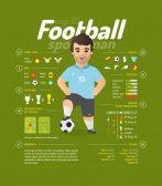 futbol caricatura : ilustración vectorial de fútbol. información del jugador…