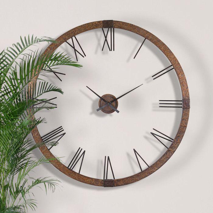 oooh so nice!   Wall clock, Big wall clocks, Large wall clock