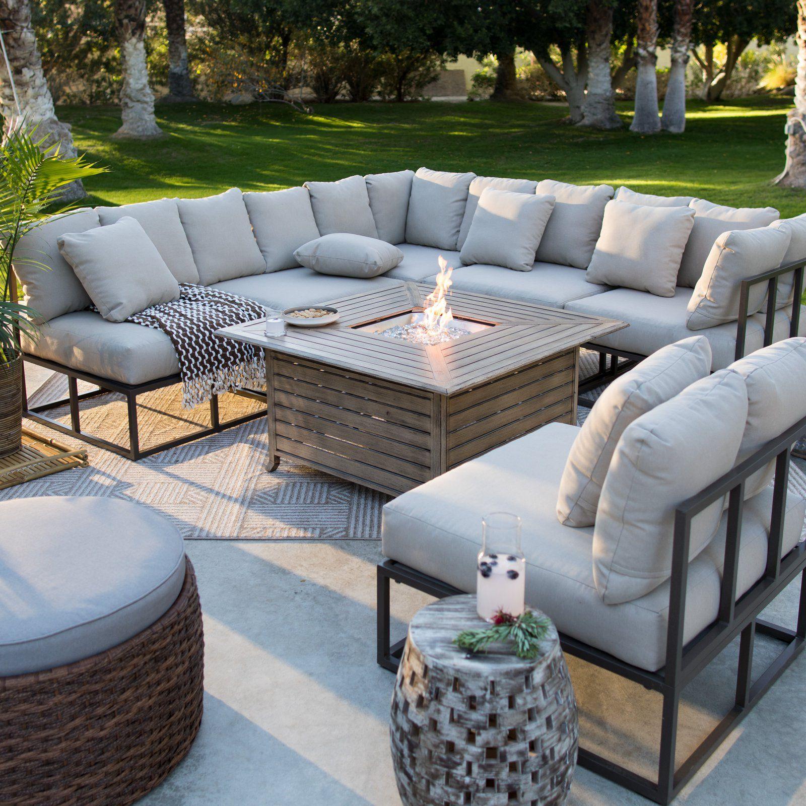 Belham Living Bonaire Aluminum Outdoor Sectional Set ... on Walmart Outdoor Living id=35862