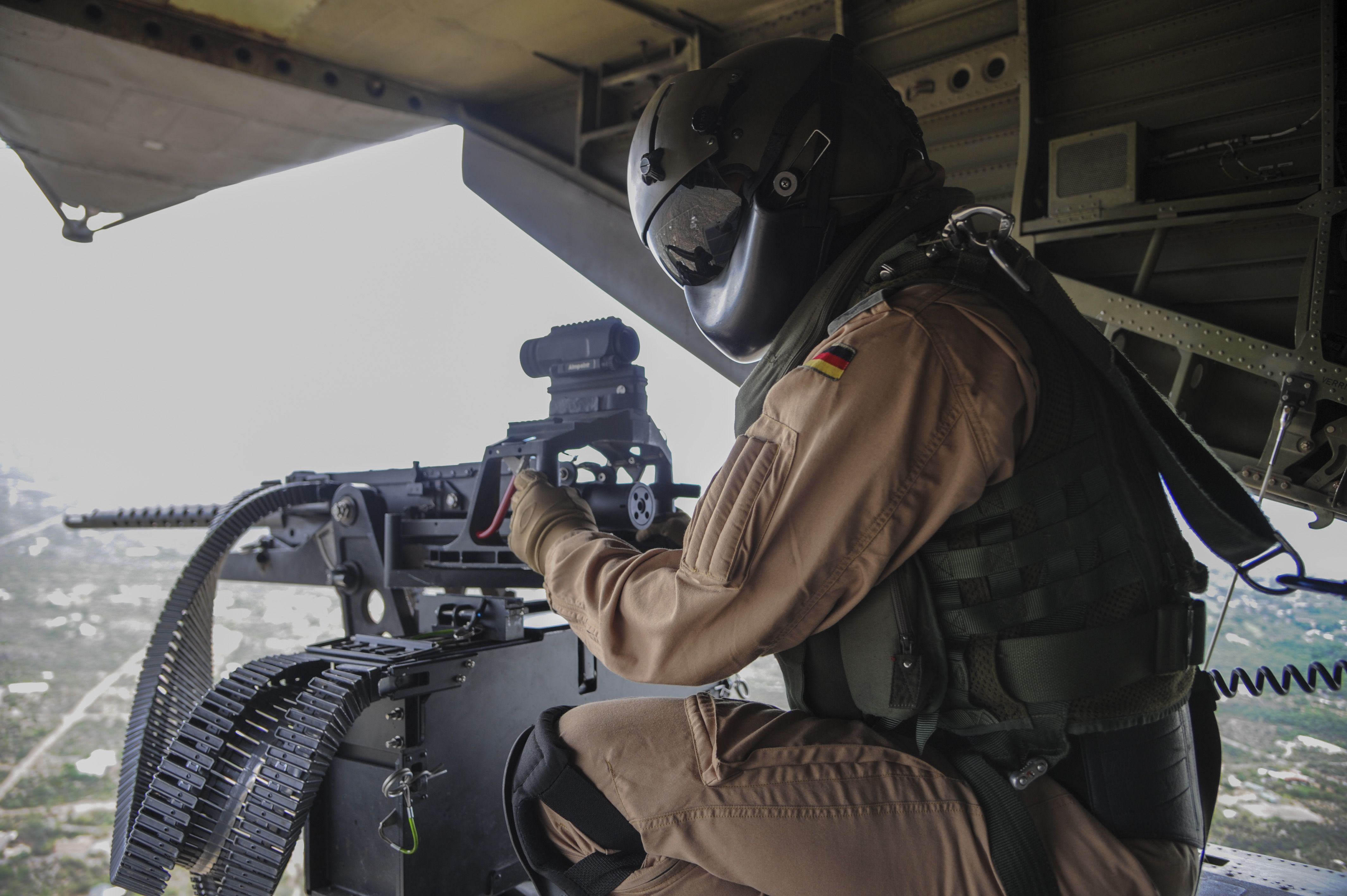 A German Air Force Helicopter Wing 64 aerial gunner [4.256px  2.832px]
