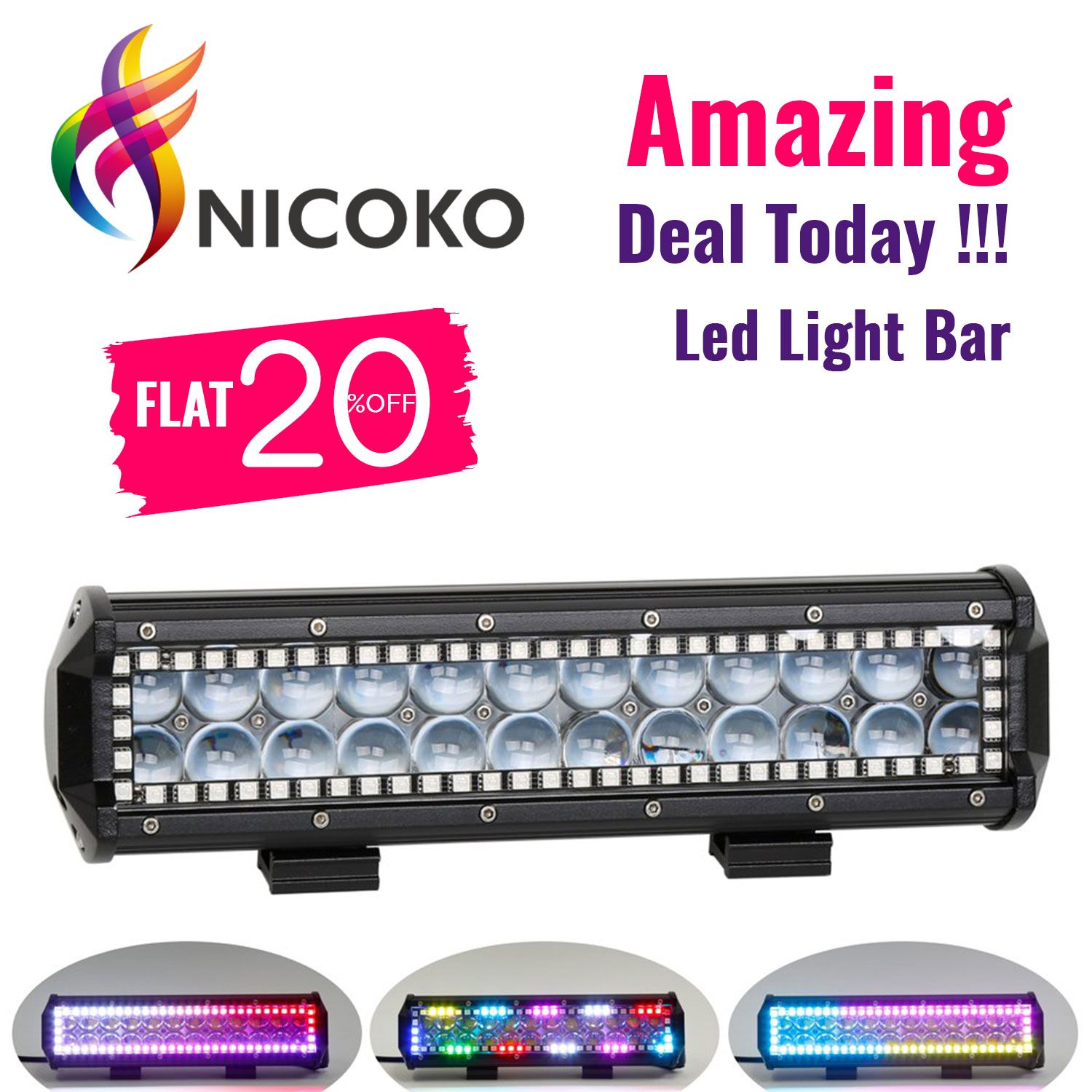 Amazing Deal Today O O Don T Miss Out Make Your Truck More Attractive Buy Now 1 Led Light Bars Led Driving Lights Rgb Led Lights