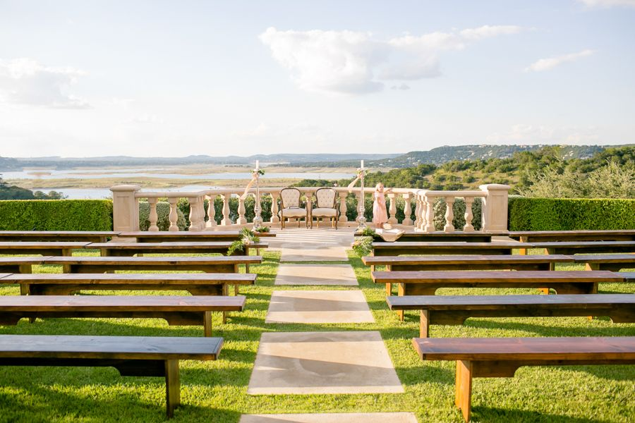 Wedding Ceremony, Villa Del Lago Events Pavilion, Planned by: 36th Street Events, Photo: The Nichols - Texas Wedding http://caratsandcake.com/christinaandshawn