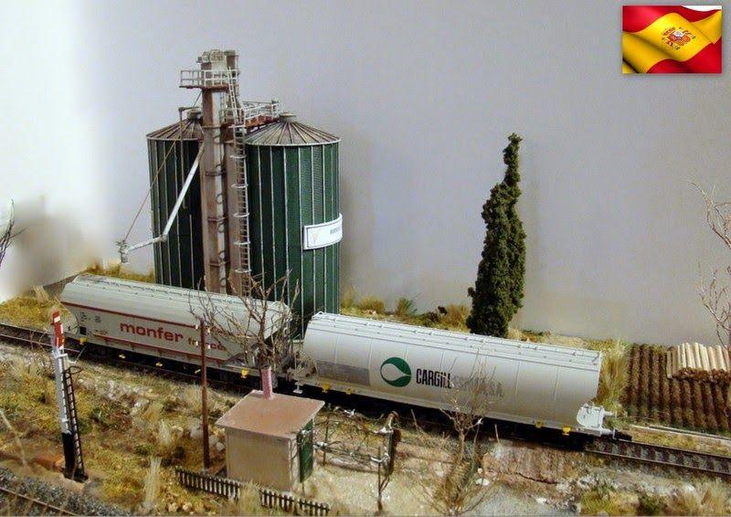 Ferrocarriles españoles. Módulo invernal castellano. Escala H0.