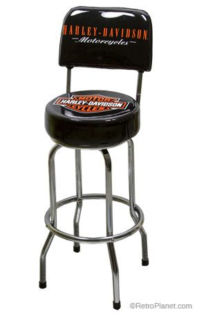 H D Bar Shield Bar Stool With Backrest Got These For The Man
