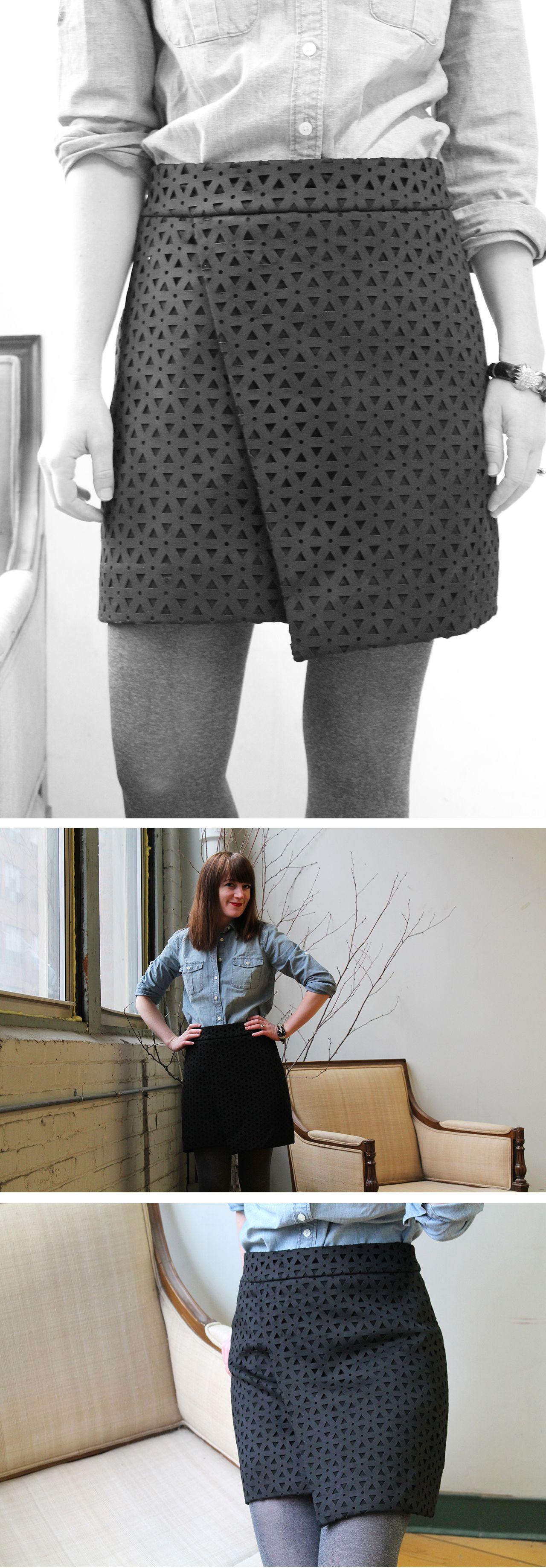 Faux Wrap Skirt 11