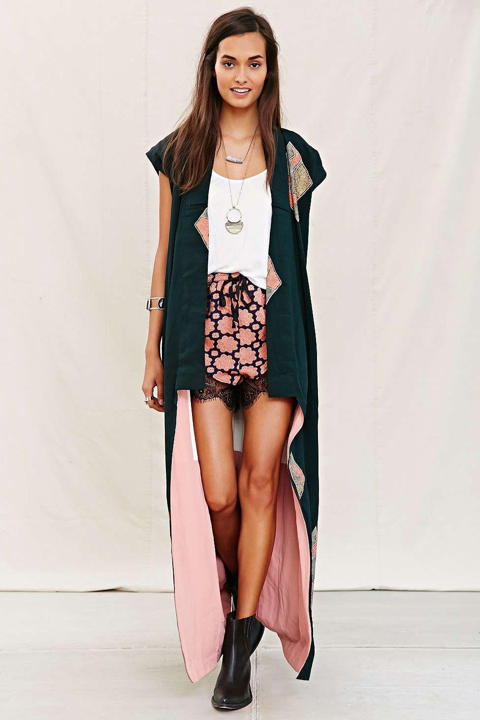 Urban Renewal Recycled Sleeveless Kimono Jacket | My stile ...