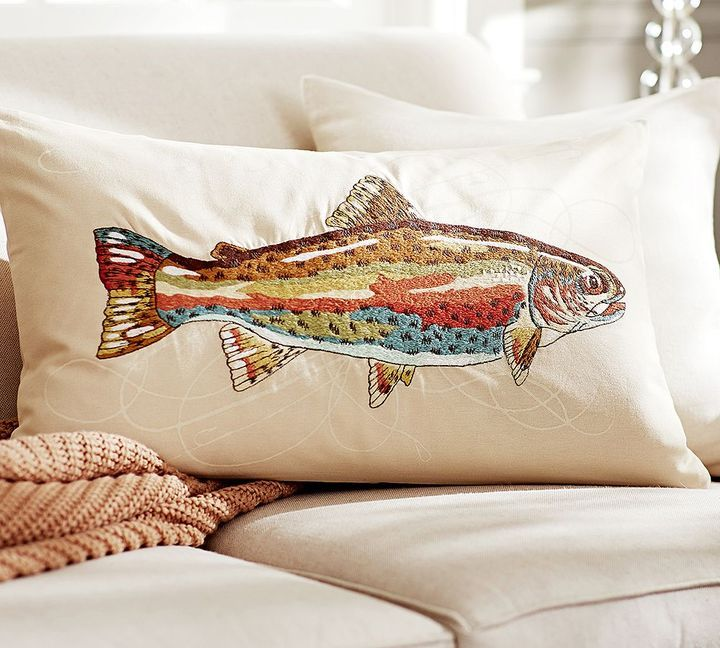 stuffed soft small cushion fish trout and pillow categories large novelty toy itm