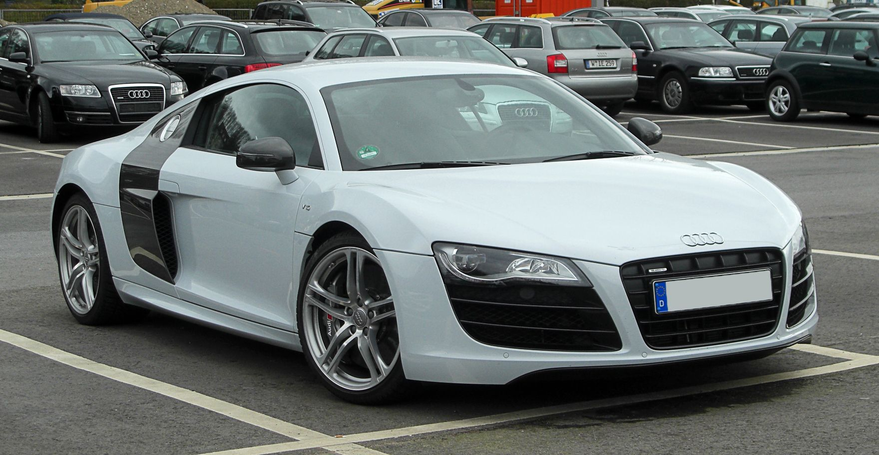 The Audi Is A Mid Engine, Sports Car, Which Uses Audis Trademark Quattro  Permanent All Wheel Drive System. It Was Introduced By The German Automaker  Audi AG ...