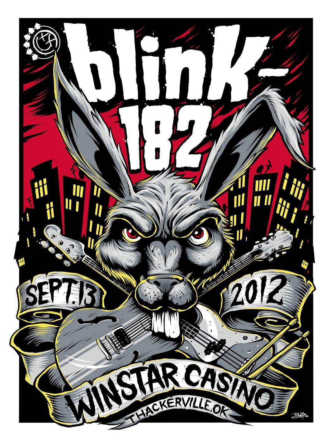Blink 182. Gig poster illustration style | Blink 182 | Pinterest