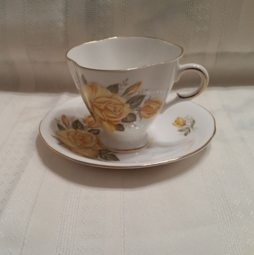 Dawn Rose Fine China Cup /& Saucer  Style House Vintage Discontinued in 1959