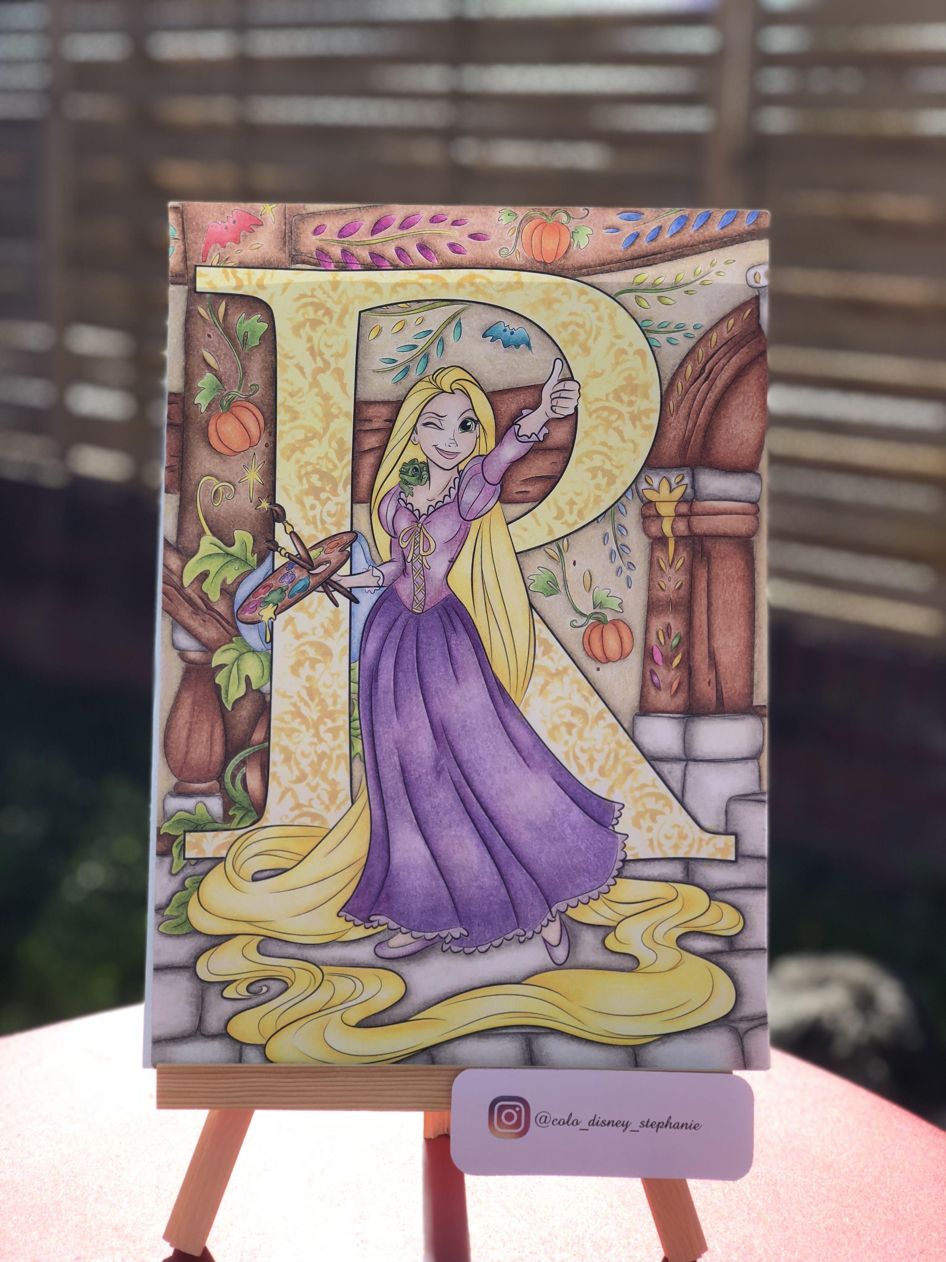 Raiponce Du Bloc L Abecedaire De Hachette Heros Coloriage Disney Coloriage Dessins Disney