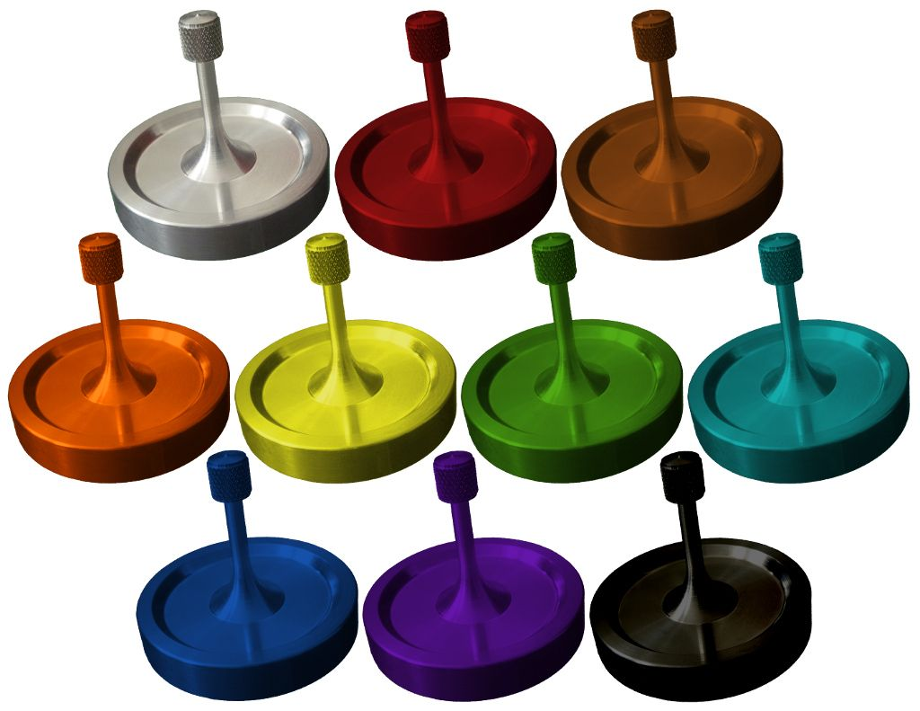 Spinny-Doo Precision Spinning Tops are available in an assortment of colors (to be unveiled in 2016.)