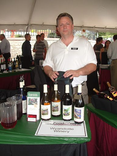 robin coolidge from wyandotte winery at the columbus food and wine affair