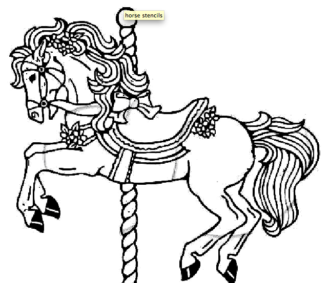 Carousel Horses Stained Glass Coloring Book Carousel horses