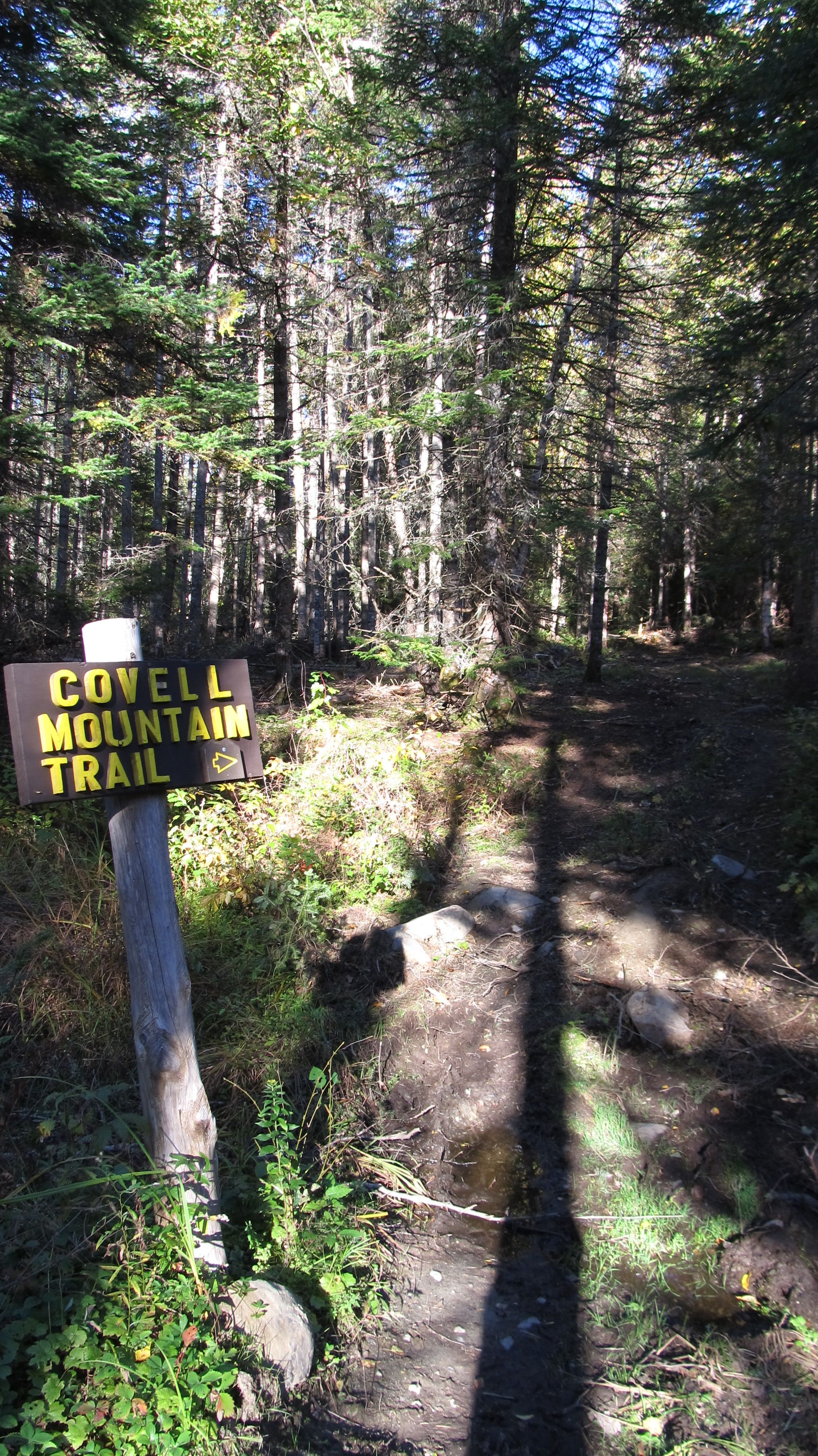The Cohos Trail runs right behind our campground, hike