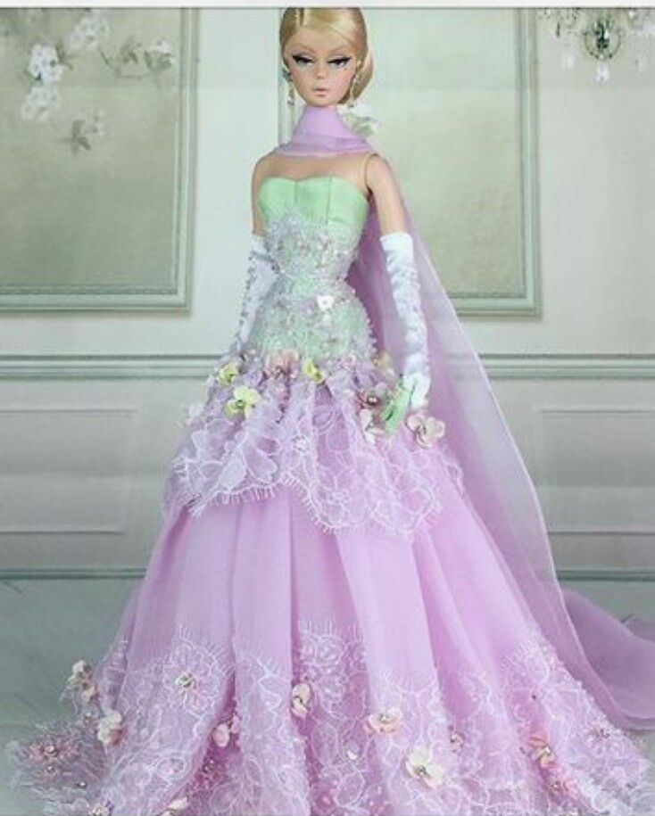 Royalty Mermaid Dress Party Dress//Clothes Gown For 11.5in.Doll S206