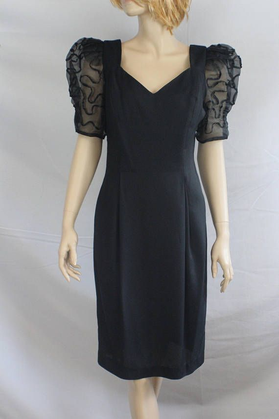 71adf5e8452 80s prom dress vintage 1980s dress puff sleeves Late