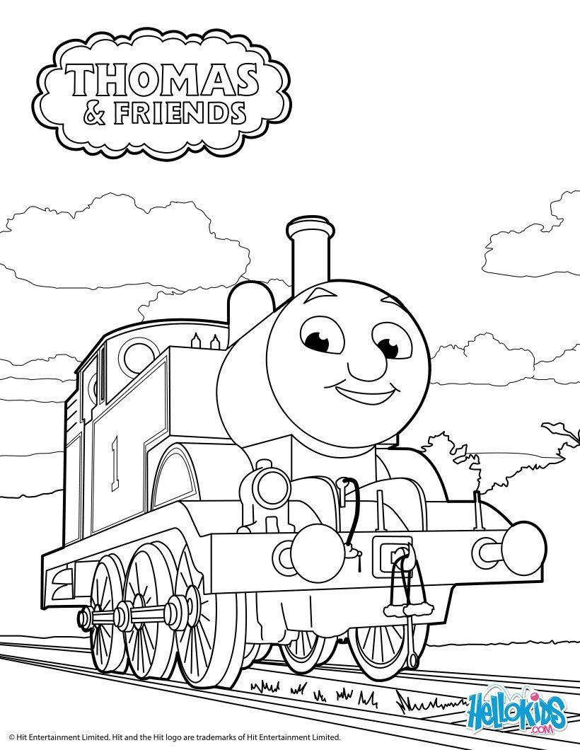 Thomas the tank engine free printable Cartoon coloring
