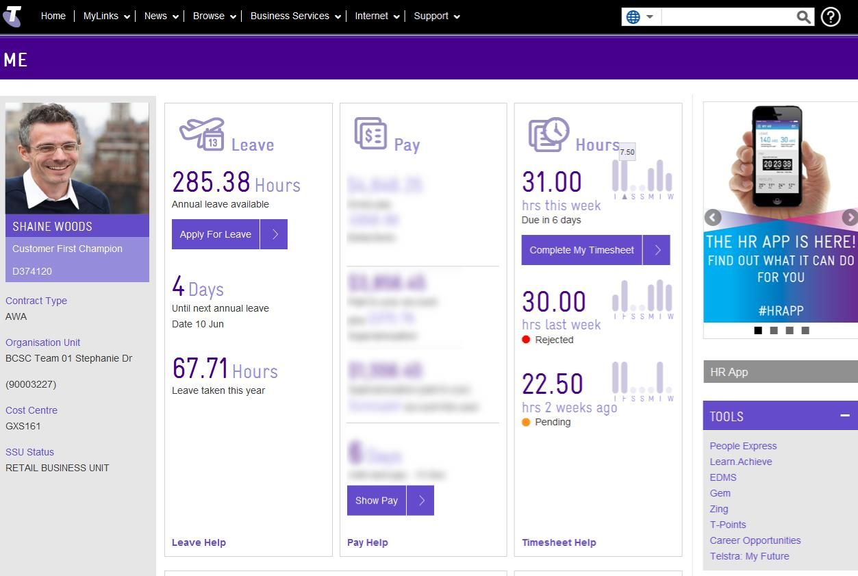 Telstra Hr Dashboard  Projects To Try    Data Dashboard
