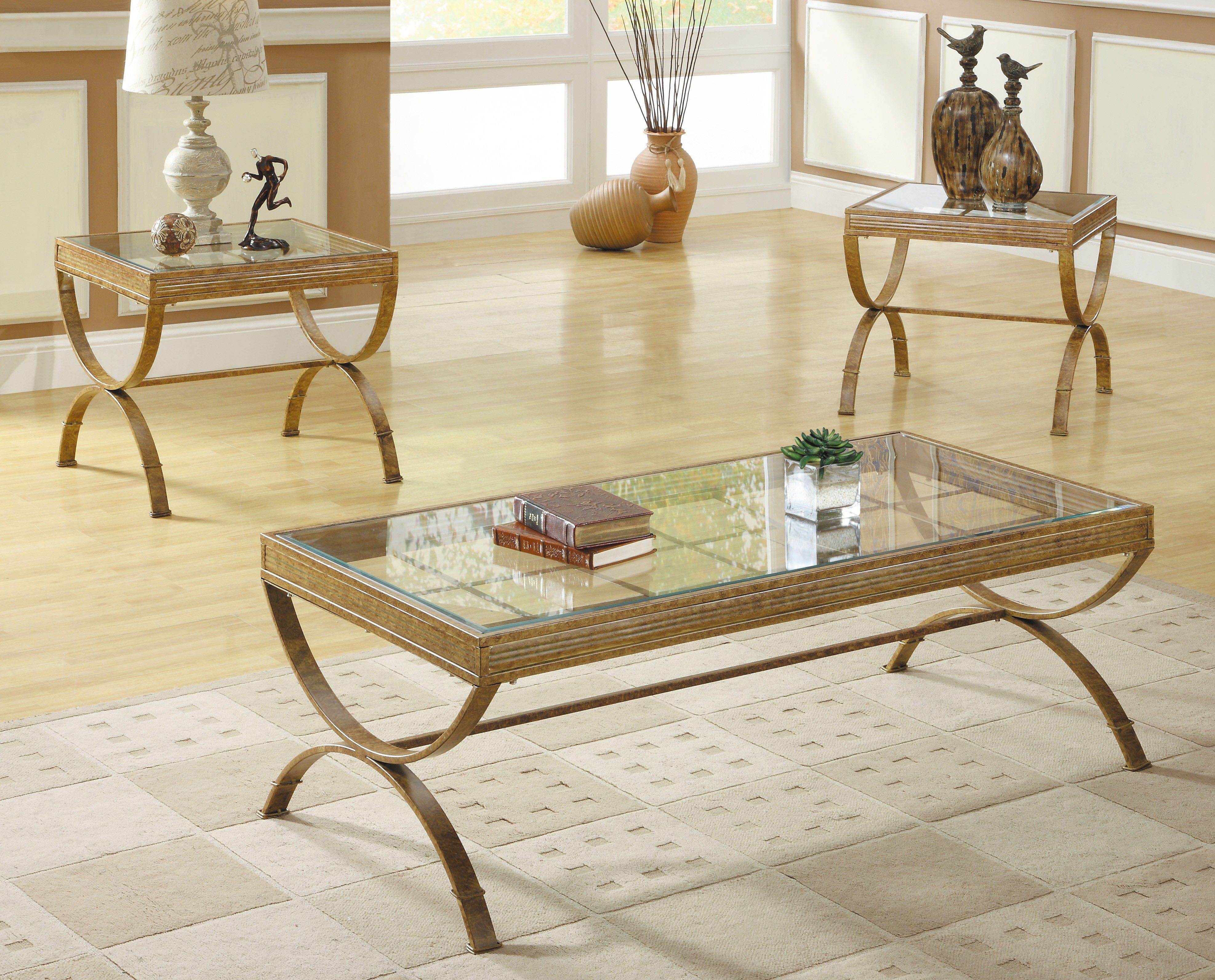 At Home In A Number Of Casual Living Room Settings Is The Claro Collection Glass Table Living Room Coffee Table Living Room Table Sets [ 3186 x 3948 Pixel ]