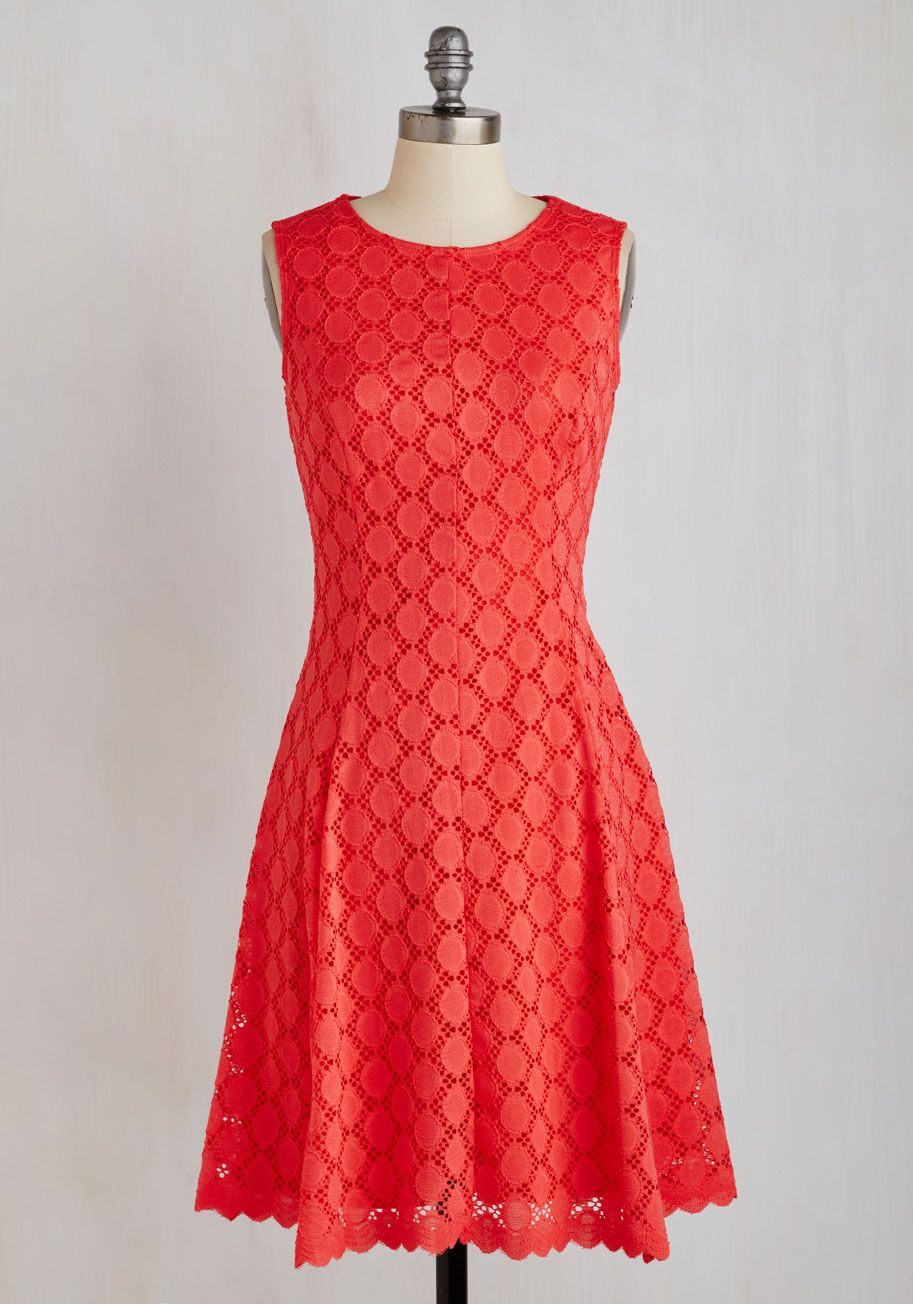 fa69643db838 Bridal Bash Dress. Your besties big day is right around the corner, and you  live up the final ladies-only festivities in this coral dress! #coral # modcloth