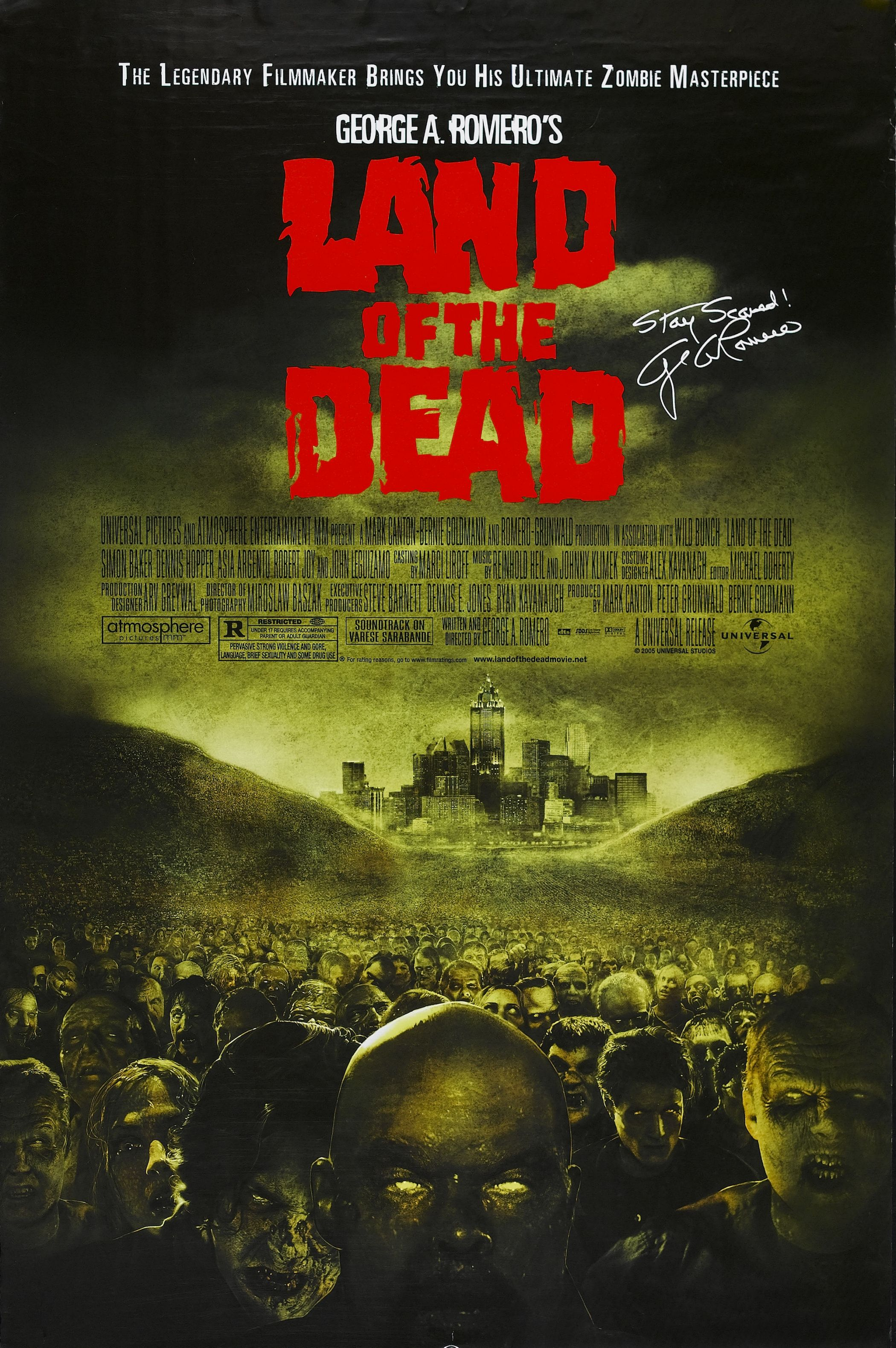 Land Of The Dead 2005 The Dead Movie Zombie Movies Horror Movie Posters