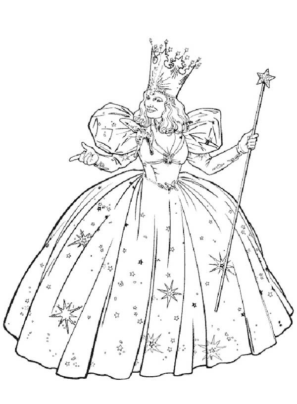 The Wizard Of Oz Glinda From The Wizard Of Oz Coloring Page Wizard Of Oz Color Witch Coloring Pages Lion Coloring Pages