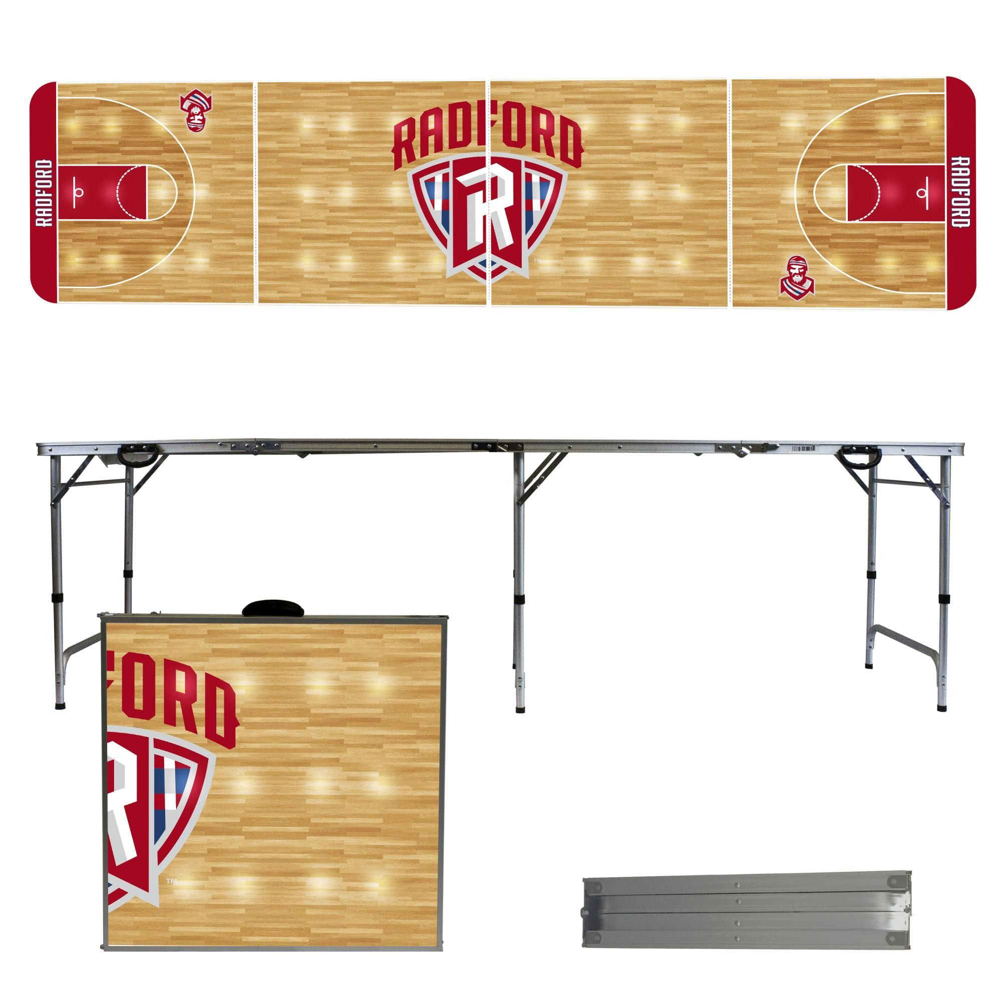 radford university highlanders 8 foot portable tailgate and pong