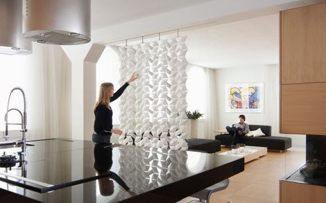 Contemporary Room Dividers Known As Lightfacet Dividers....individual  Geometric Diamond Shapes Interlock