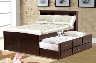 Double bed with a twin trundle underneath. Good option for the
