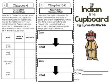 The Indian In The Cupboard Indian In The Cupboard Novel Study Units Novel Studies