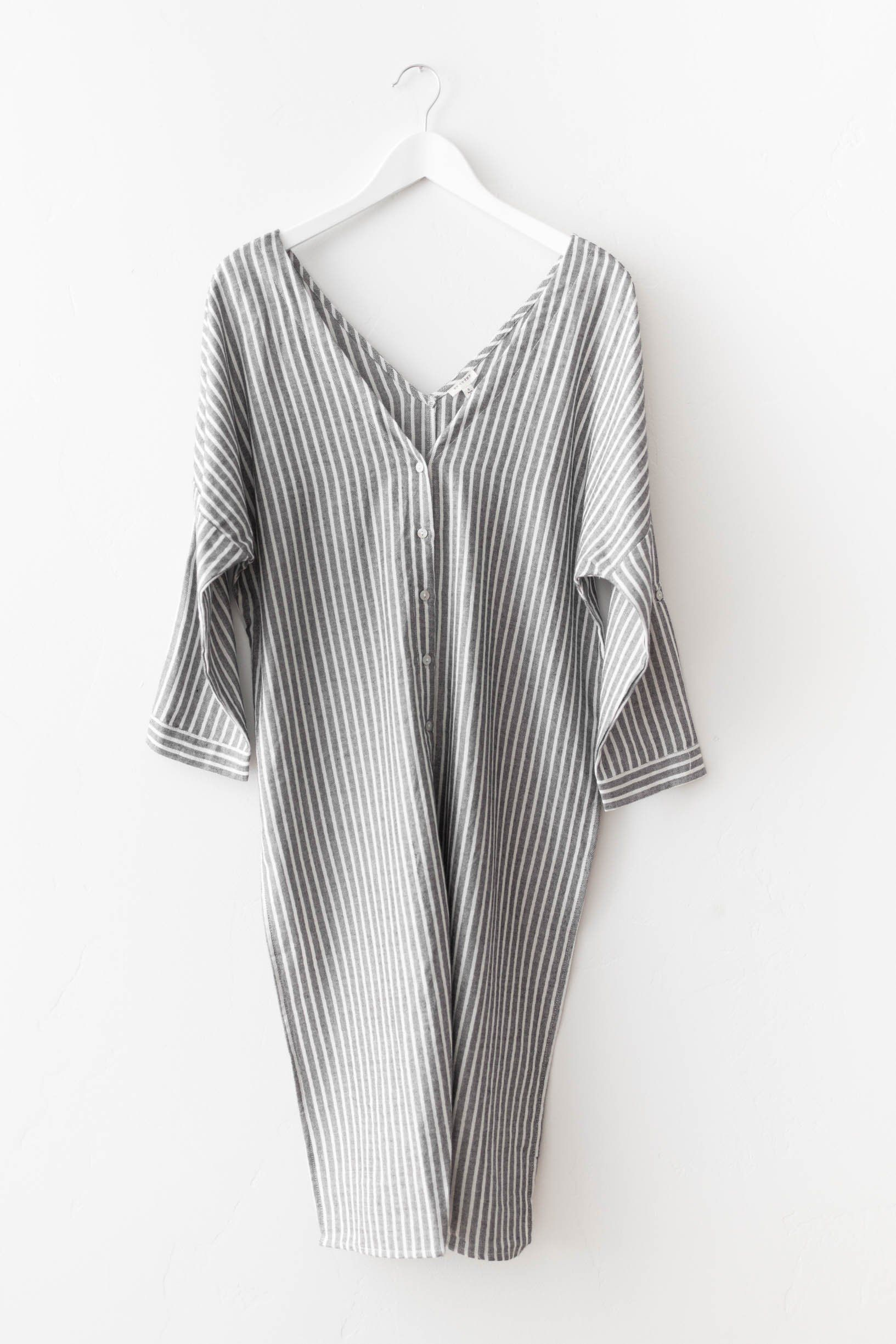 Ava striped dress long sides clothes and shorts