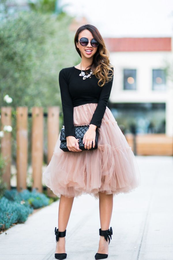 f1e1b3c592a8 wedding-guest-outfit-suggestion Pink Tulle Skirt